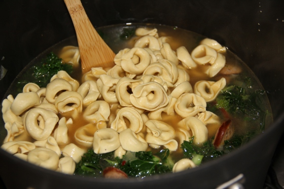 Tortellini and Kielbasa Soup with Kale and Cannellini Beans | The Wily ...