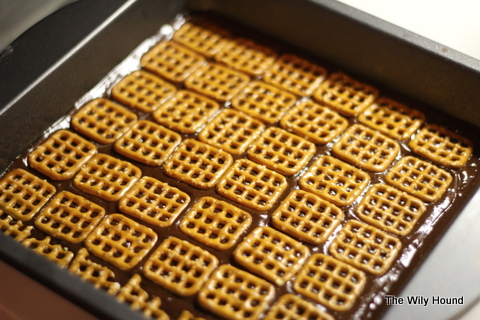 Salted caramel & pretzel brownies 042